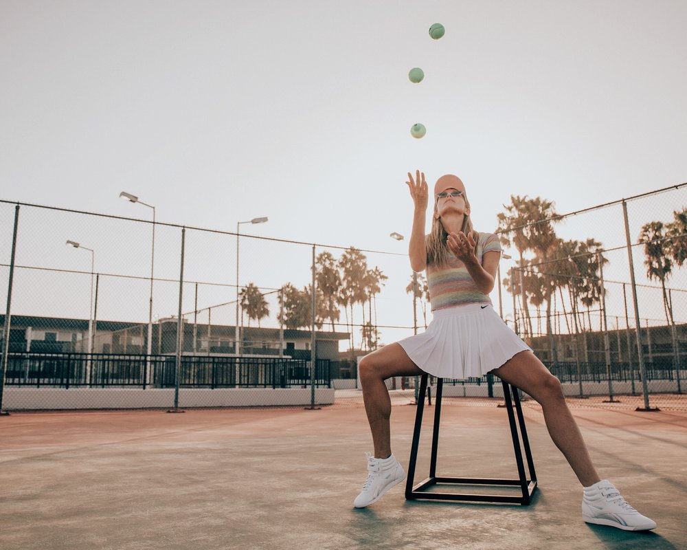 Nike tennis skirt.   Its my first skirt, so I can't say I have too much experience in comparison. But I LOVE this one. It's not too tight, has spandex shorts under it and is the perfect length. You don't have to worry about it being too short!