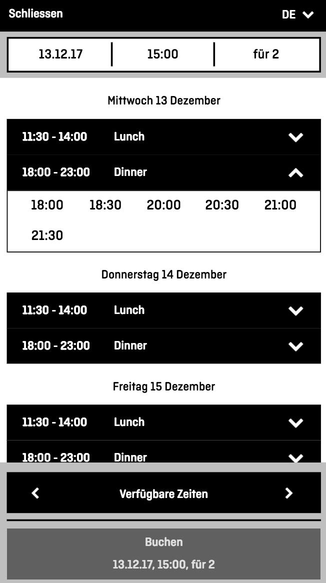 aleno restaurant reservation system widget availability.png