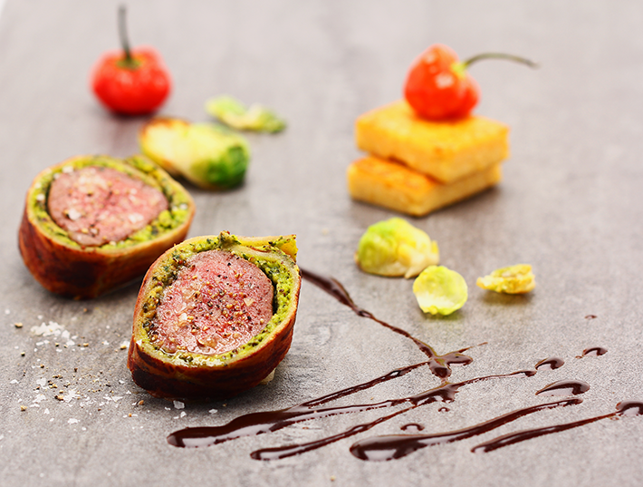 Saddle of Lamb in a creamy Herb Breadcrust