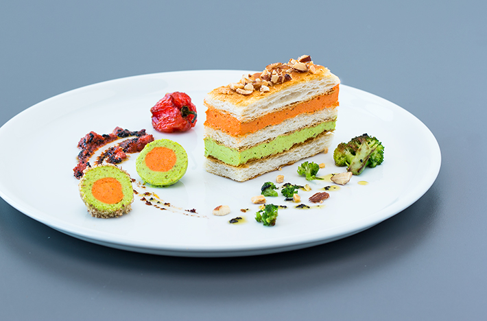 Sweet Pepper and Broccoli Cream Slices