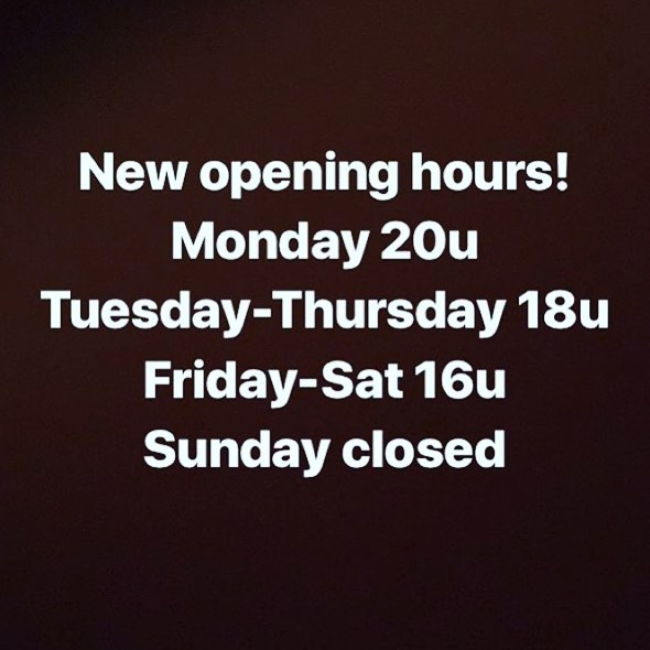 Our new opening hours during the summermonths...💃🏻