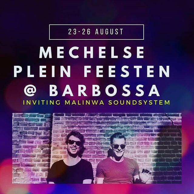 Don't miss this! Mechelse plein feesten van 23 tot 26 augustus @barbossa met @oberon_co & @woutergijbels  #caffebarbossa #mecheslepleinfeesten #antwerp #party