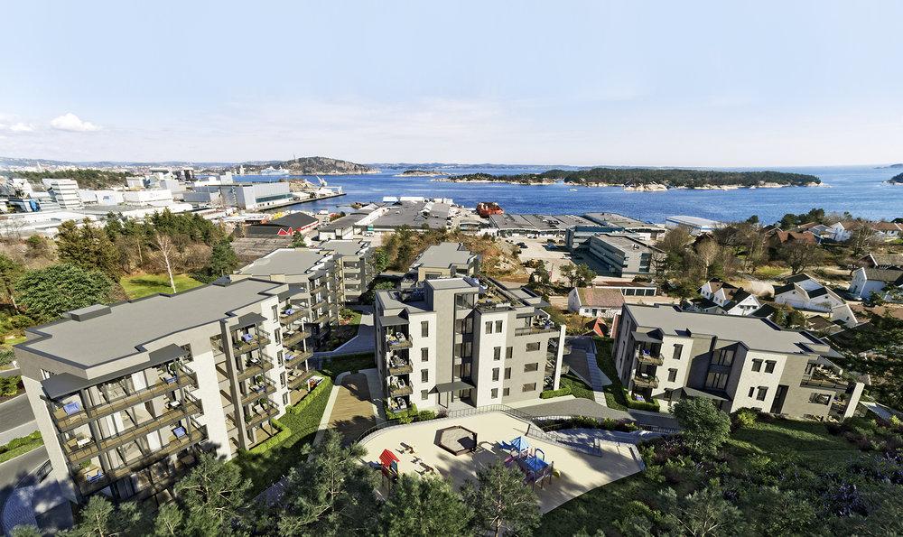 «Vågsbygds siste indrefilet» sa megleren om Amalienborg Aveny. Vi er enige: Midt i Vågsbygd, utsikt mot sjøen, flott badebrygge, topp arkitektur og mulighet for båtplass i fremtidig båthavn.