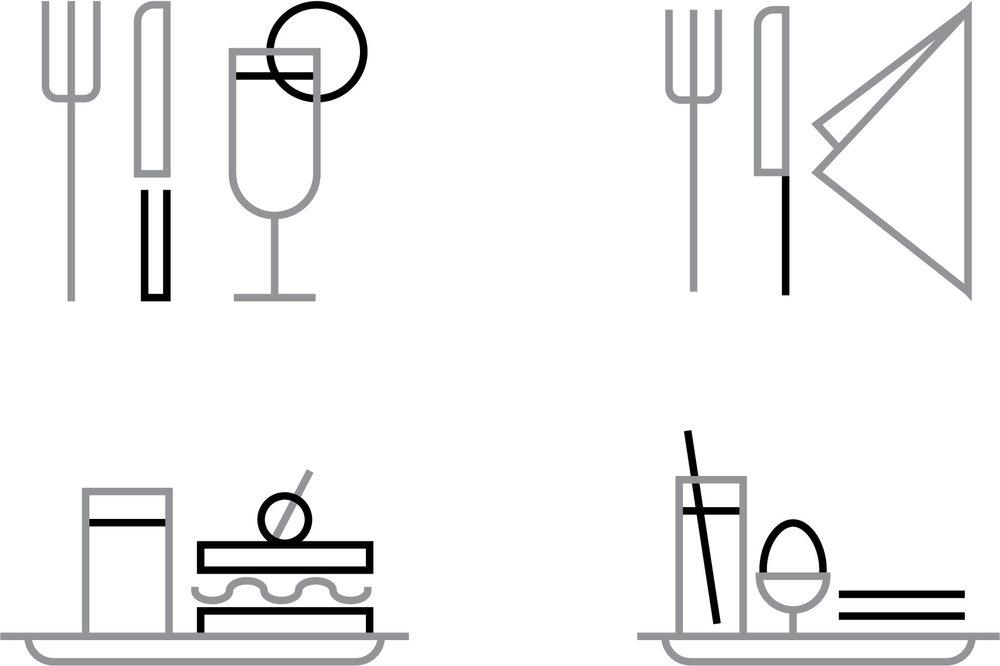 Kantine piktogrammer