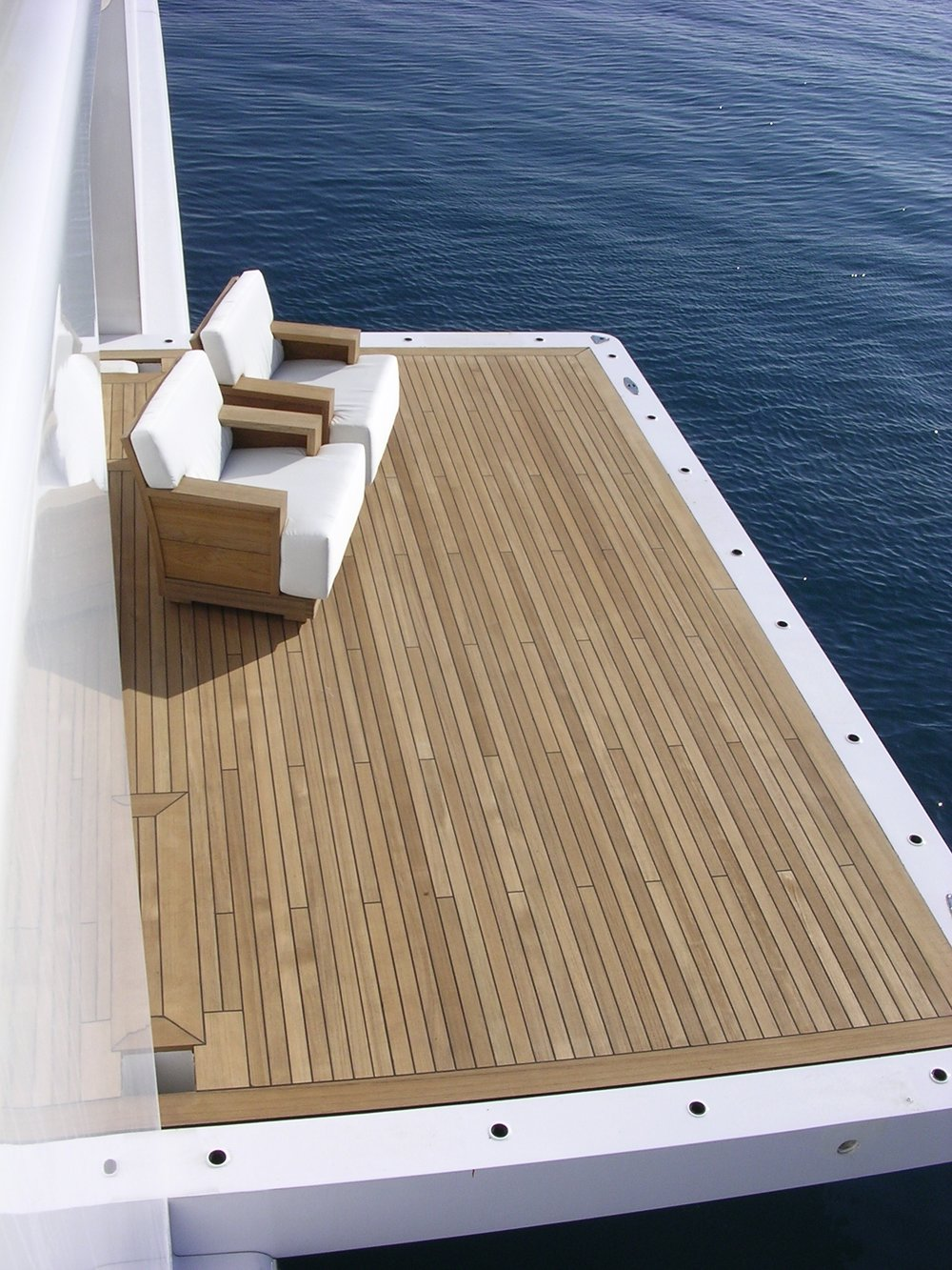 Suite Of Solid Teak Deck Furniture Including Dining Chairs, Sofas And Deck  Chairs And Side Cabinet.