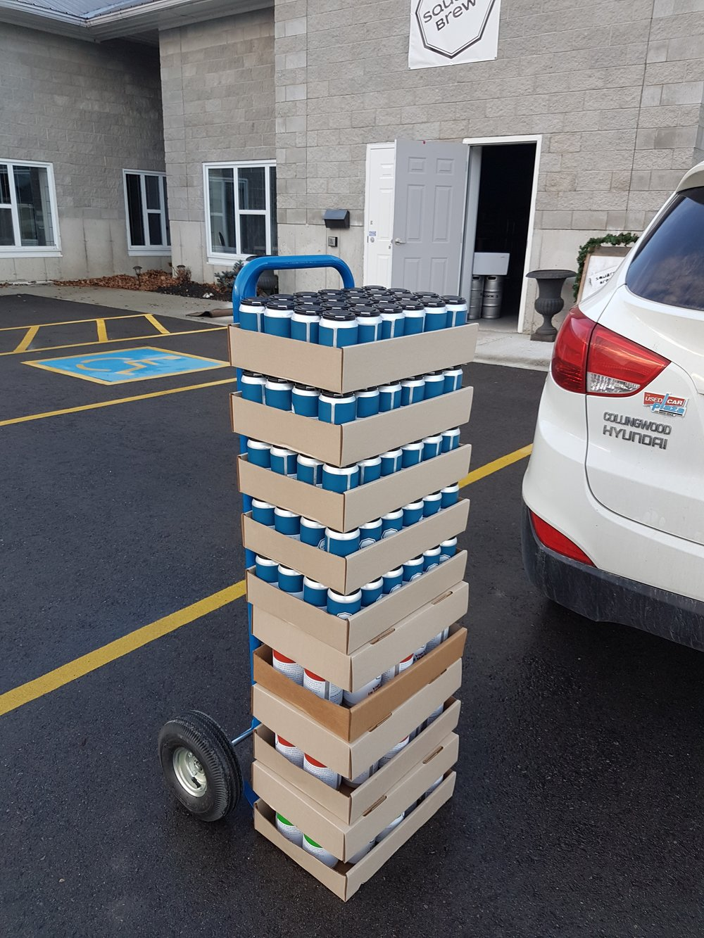 Group Delivery - How it works:Weekly beer drop off at your workplace or other group locationOrders placed by 9:00 pm Wednesday will be delivered Thursday by 4:00 pm.Send us an email to set up your office or group: info@squarebrewco.com