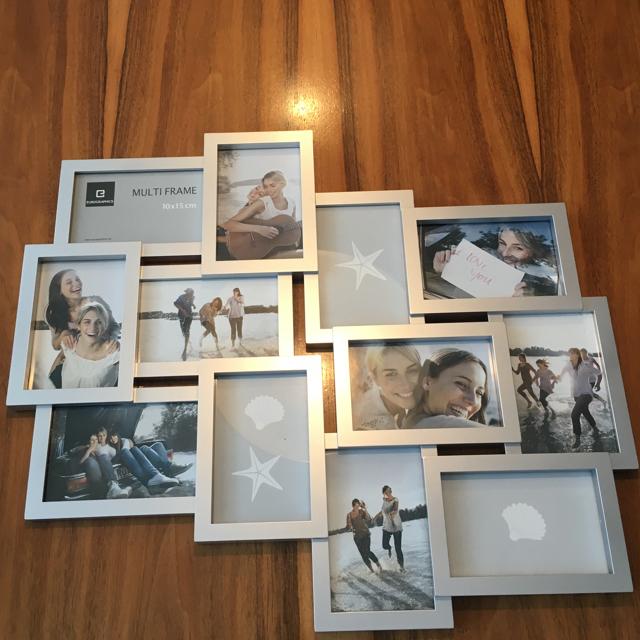 Hole die alten Ferienfotos hervor und mache eine Collage mit diesem süssen Rahmen.