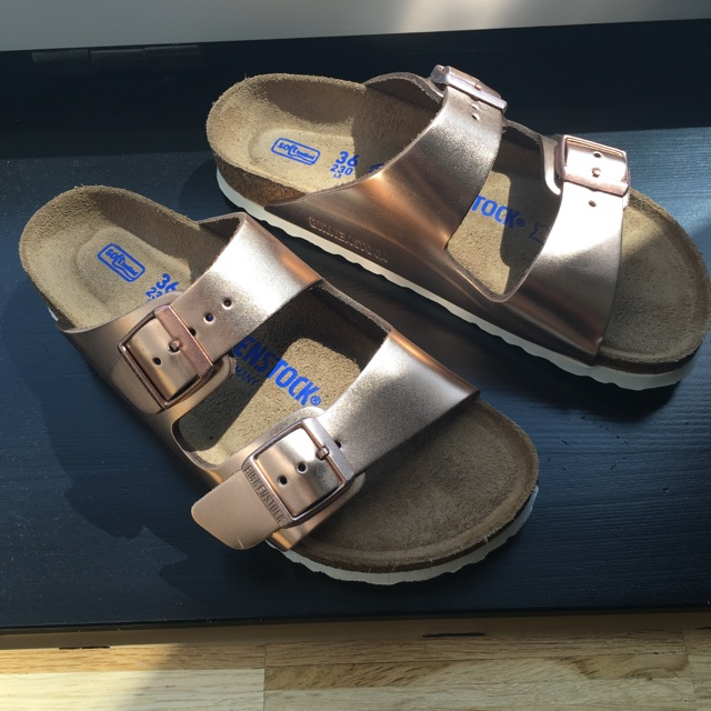 Rose Gold Birkenstock shoes?! YES!