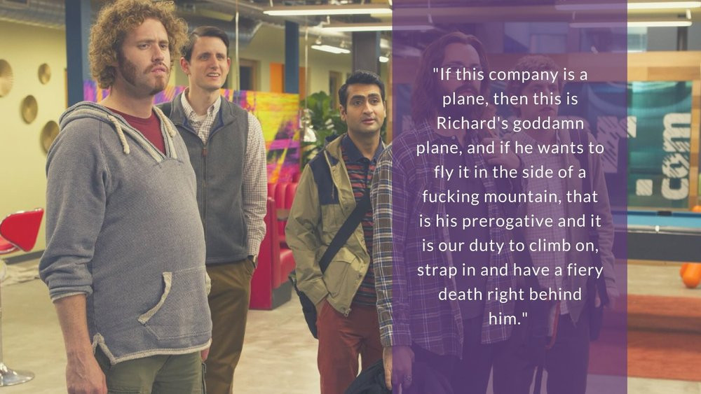 If this company is a plane, then this is Richard's goddamn plane, and if he wants to fly it in the side of a fucking mountain, that is his prerogative and it is our duty to climb on, strap in and have a fiery death right behind him.