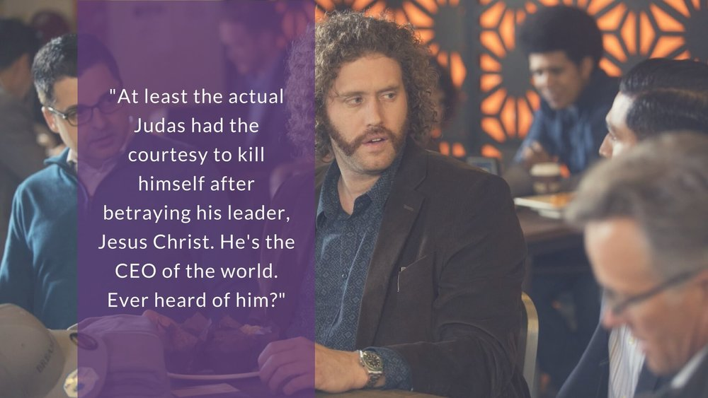 A least the actual Judas had the courtesy to kill himself after betraying his leader, Jesus Christ. He's the CEO of the world. Ever heard of him?