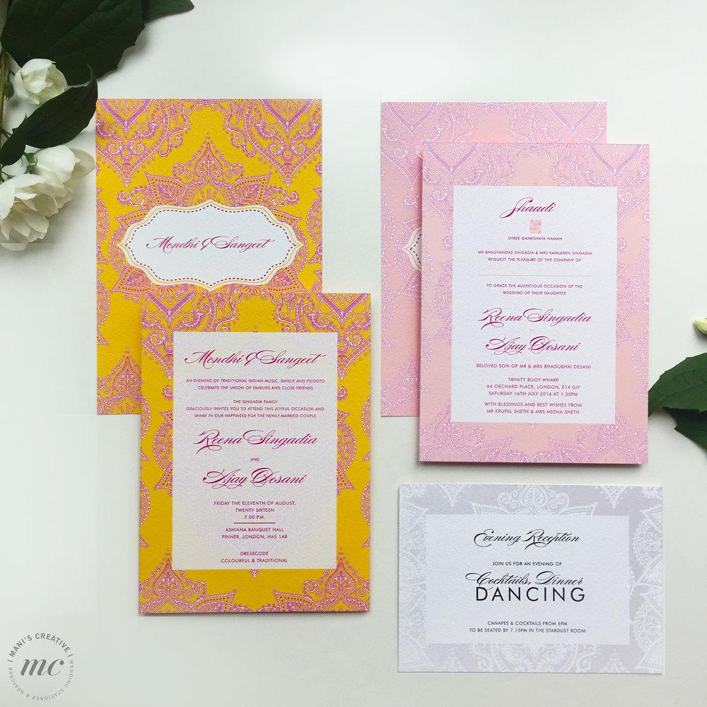 Jaipur Love wedding stationery - Mani's Creative