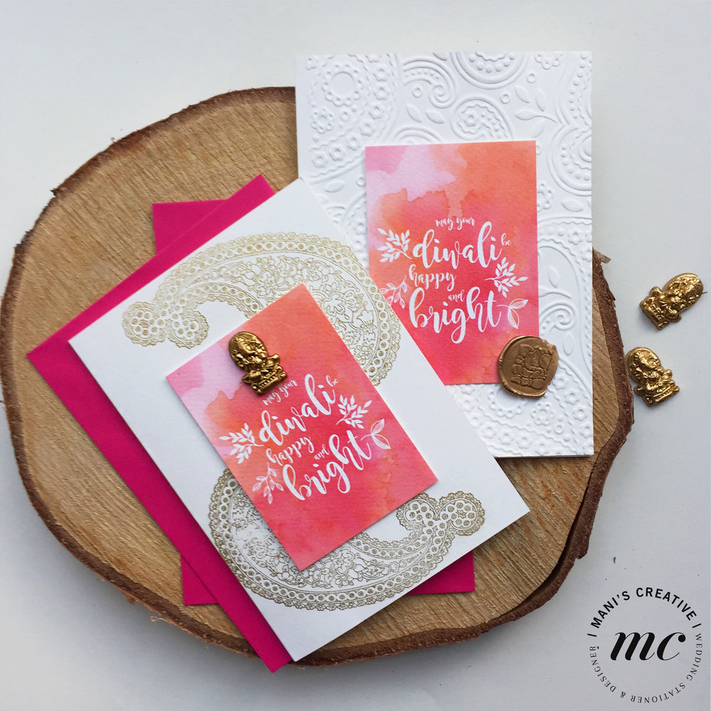 Handcrafted Diwali Cards