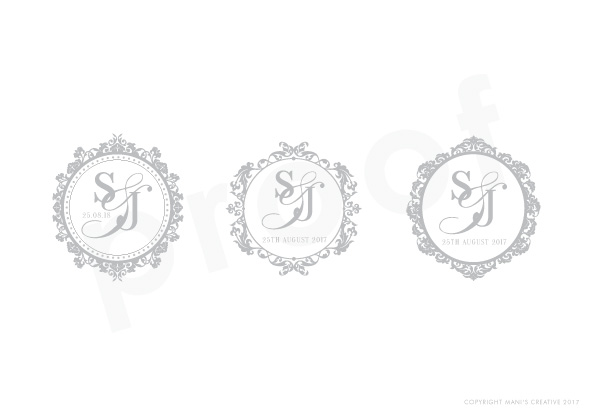 bespoke wedding logo & monograms