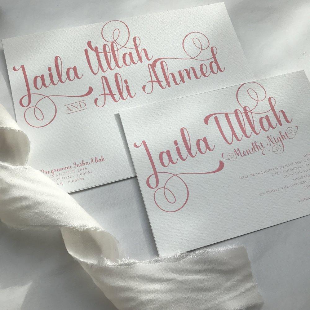 Jasmin Indian Heritage Wedding Stationery-Mani's Creative
