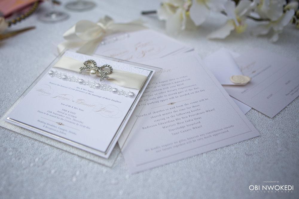luxury wedding stationery -