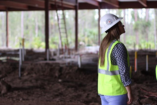 Today a few of our team members were able to tour the new Gartner campus that is under construction. Seen here, Building C's foundation is nearing completion! #wearestudioplus • • • #design #architecturaldesign #architecture #gartner #lifeatgartner #architects #construction #safetyfirst #studioplus #swfl