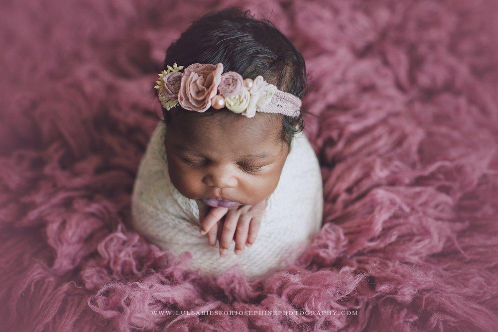 morris-county-baby-photographer-headband-sleepy-baby-wrap-fuzzy-flokati