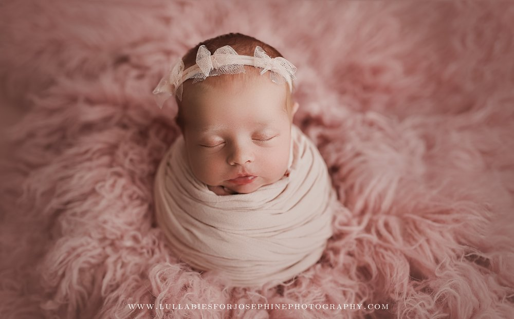 Baby girl pink soft headband