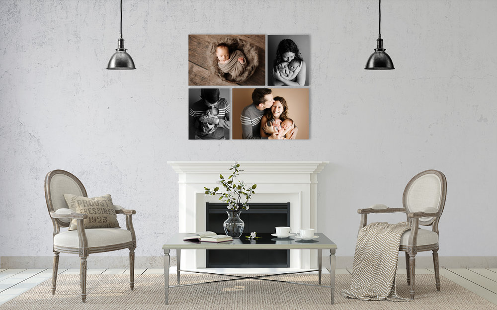 NJ newborn photographer fine art print living room art display
