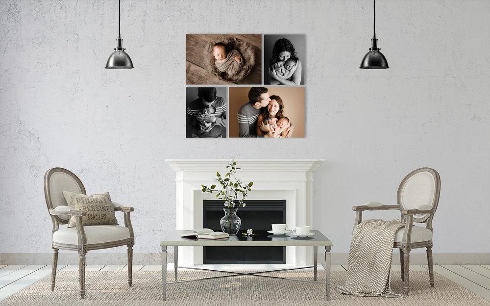 NJ newborn photographer fine art print living room art display
