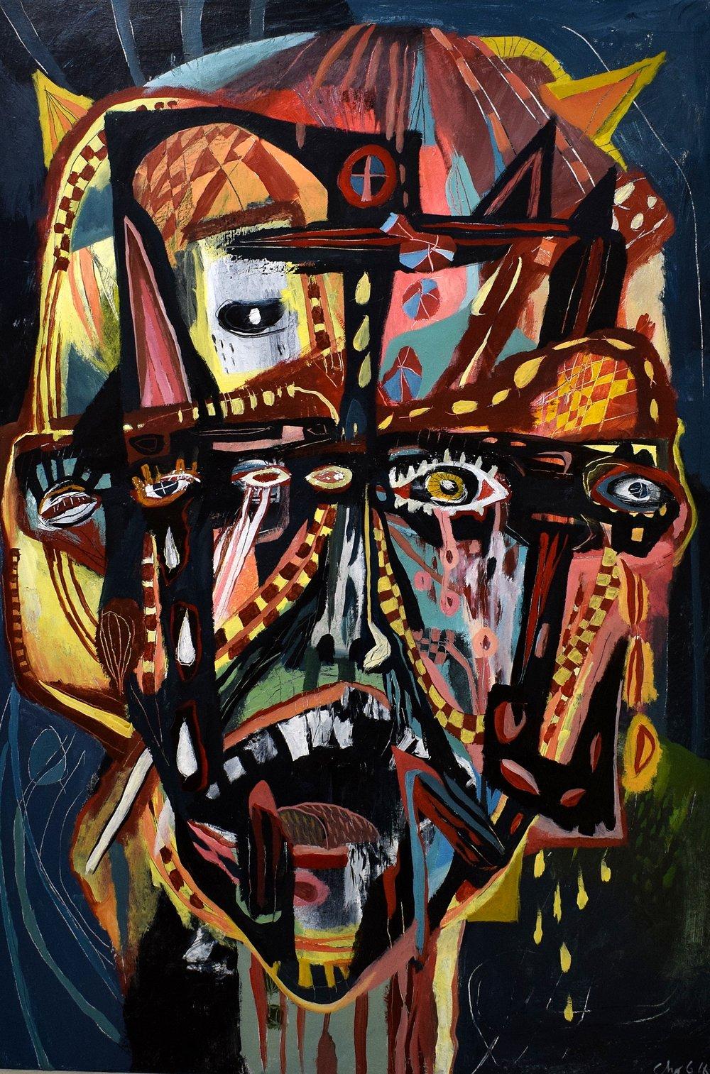 Losing sanity, Acrylics, 80x100cm, 2016