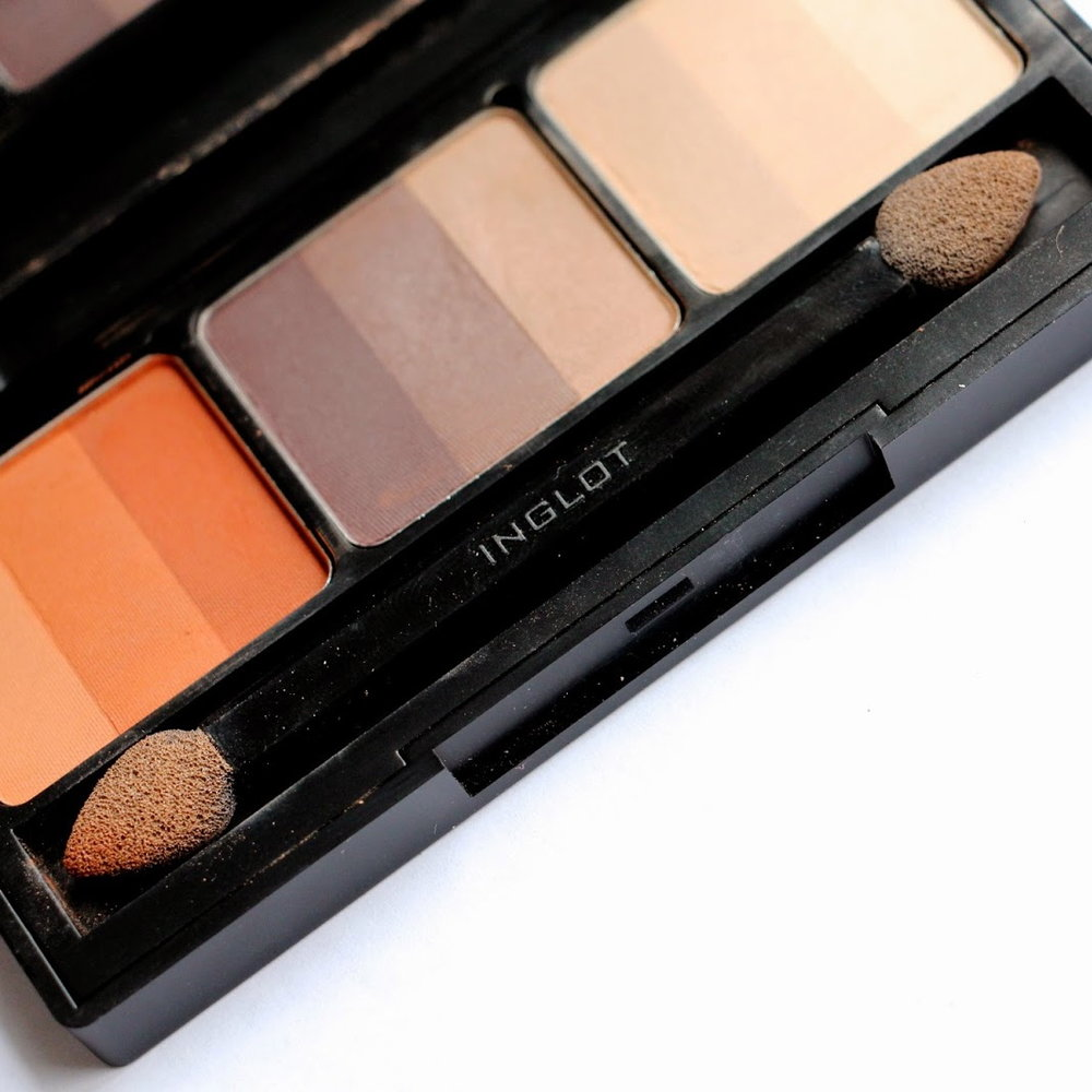 samantha series beauty blog inglot palette rainbow eye shadows