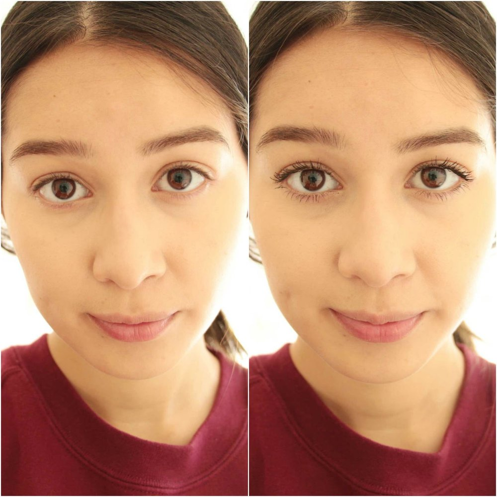 Before After Samantha Series Blog Covergirl Super Sizer Mascara