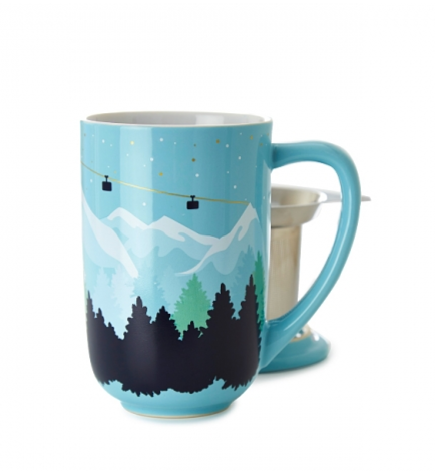 Snowy Mountain Colour Changing Nordic Mug