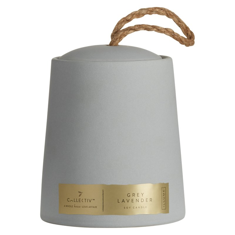 Illume Ceramic Grey Candle - Grey Lavender