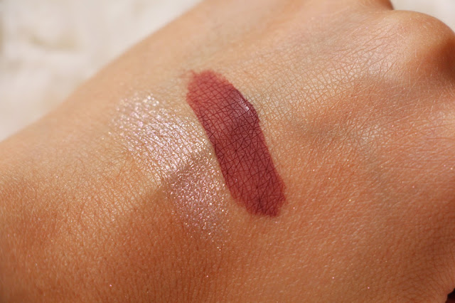 Left: Bobbi Brown Shimmer shadow, Right: Kat von D Lolita