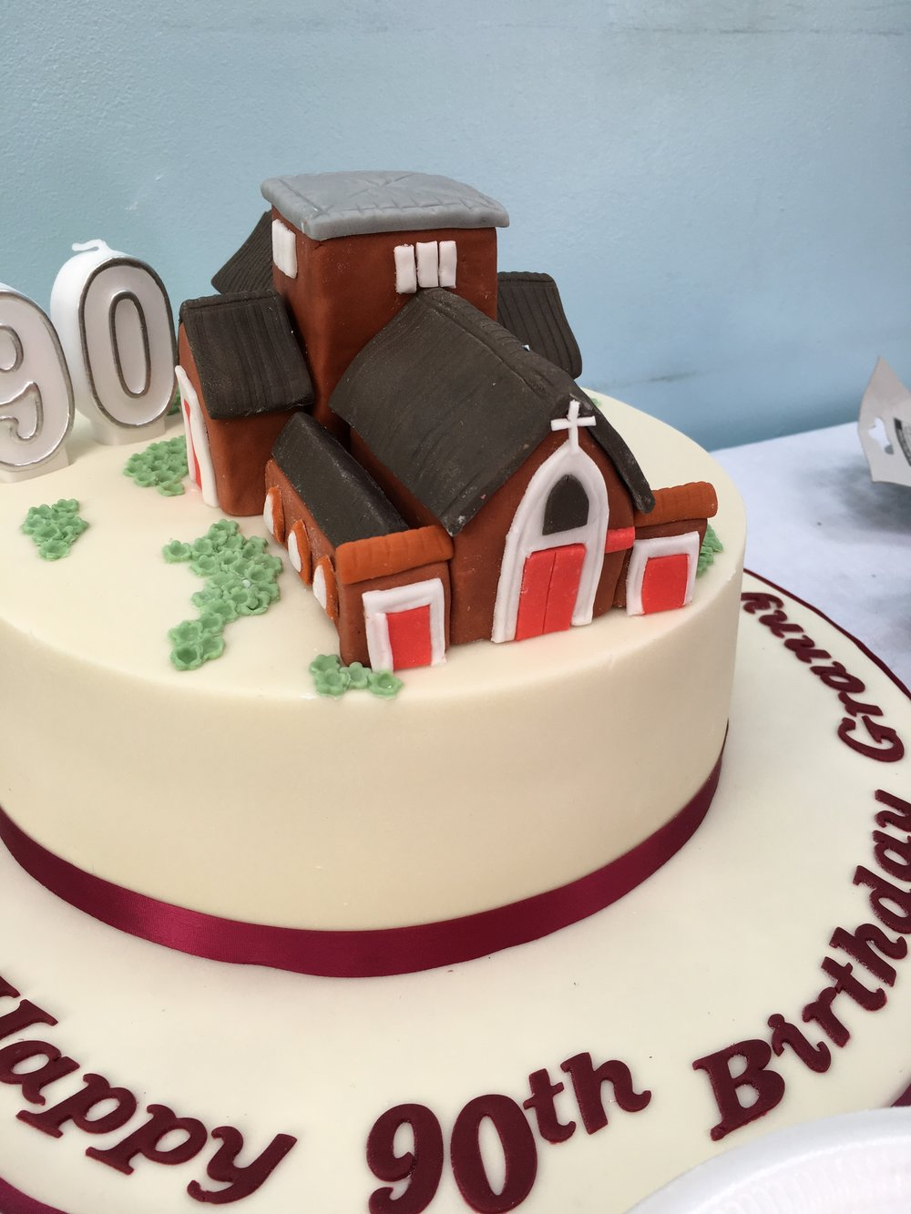 St Christophers In Cake Form For Margaret Allen 90th Birthday And Celebrating Her 86 Years As Part Of Our Church Happy From Everyone At