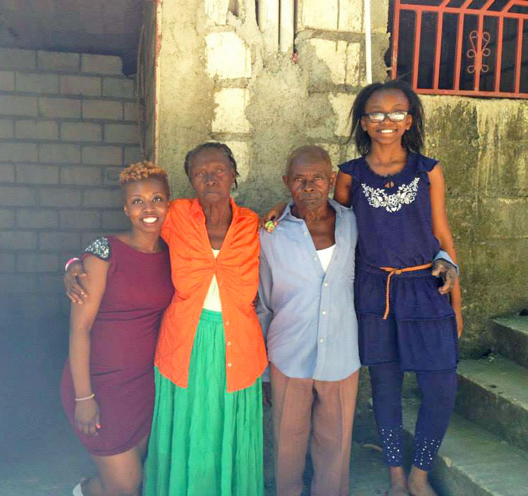 My Grandparents and baby sister in Les Cayes back in 2013.
