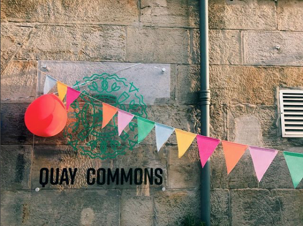 Quay Commons Bunting and Sign.png