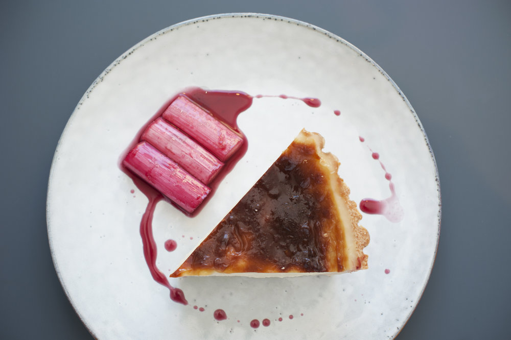 Dale Mailley Quay Commons Milk Flan with Yorkshire Rhubarb Poached in Aelder.jpg