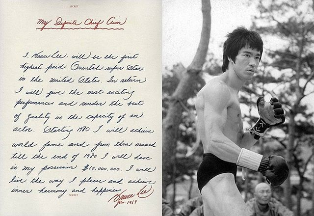 "Bruce Lee: The Inevitability of Success ""...In 1969, nobody expected a thin Asian man with a high pitched voice to become one of the most influential characters of the 20th century. Nobody knew, that is, except Bruce Lee. That year, Bruce Lee wrote a letter to himself..."" https://betterhumans.coach.me/bruce-lee-the-inevitability-of-success-a139d1d84823#.4yv9bzibt  #brucelee #mefpodcast #mefcast #martialarts #selfdefense #inspiration #fitness #motivation #jkd #mma #legend #dragon #discipline #sacrifice #success"