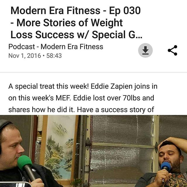 MEF Greatest hits: This week we're taking a look back at one of our most popular episode wherein @oceansurf54 appears as a guest and shares what he did to lose over 70lbs! Give it a listen and pick up some tips. Available on multiple podcast platforms. Search for it now, or get it from the horse's mouth at ModernEraFitness.com  #modernerafitness #mefpodcast #mefcast #health #weightloss #exercise #nutrition #diet #conditioning #fitness #holistic #fitfam #fitdad #fitspo #crossfit #podcast #success