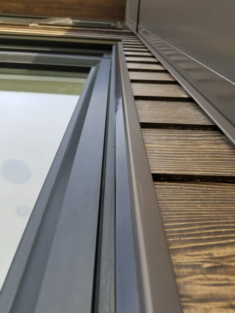 New Caulking, Exterior Windows