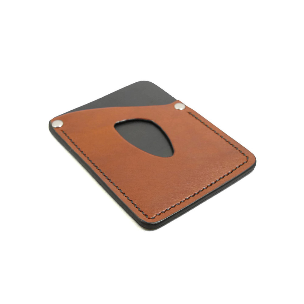 Deluxe Card Sleeve - Saddle Tan and Black.jpg