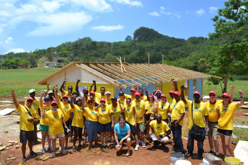 The Kisko team at a school build in Jamaica