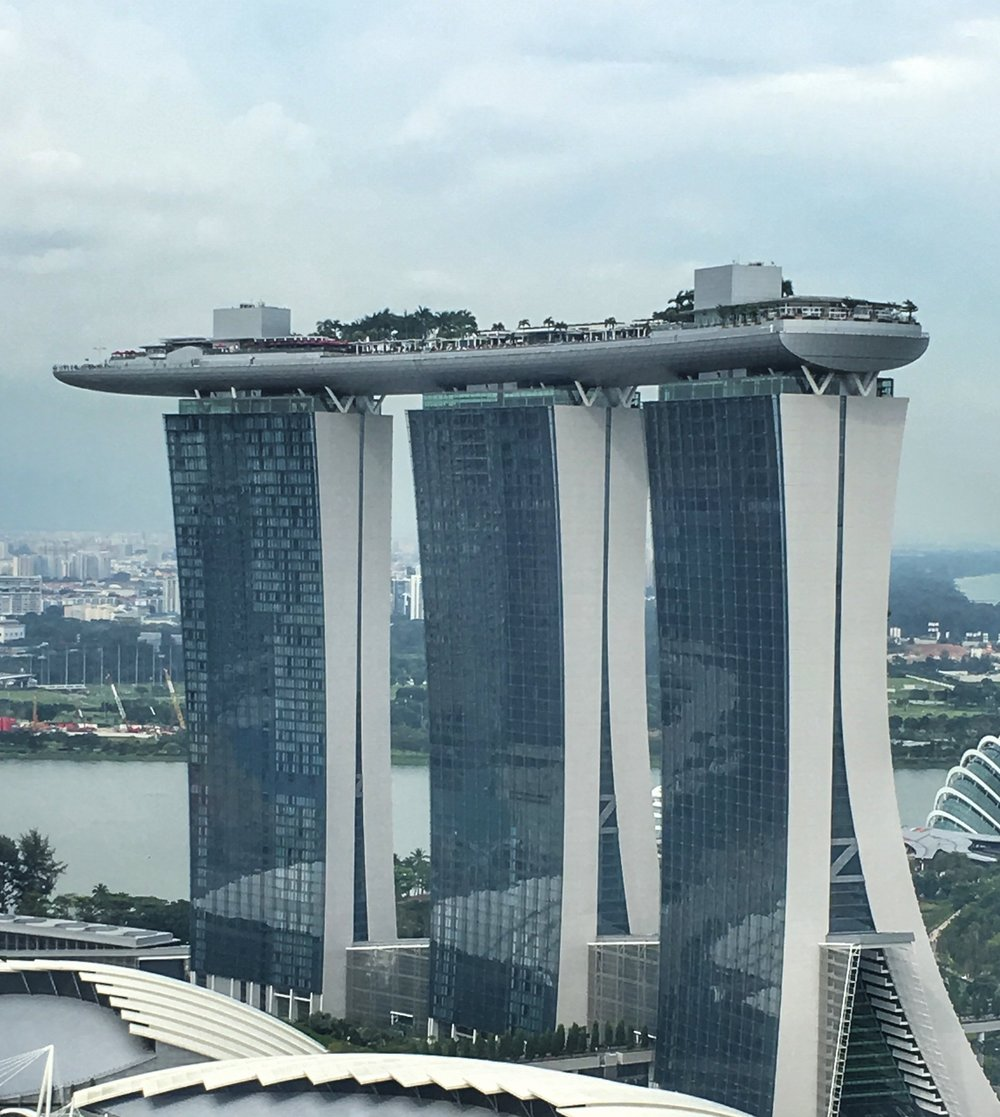 The iconic Marina Bay Sands building.