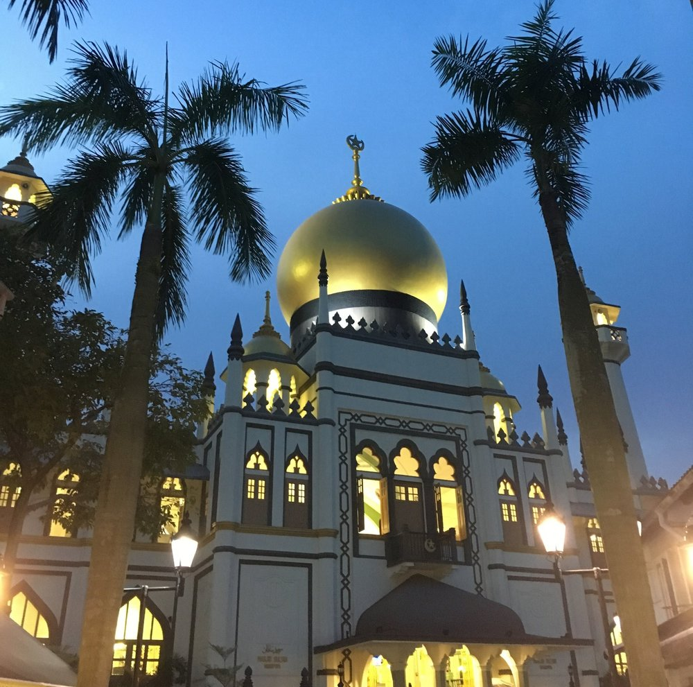 The Sultan Mosque on Arab Street.