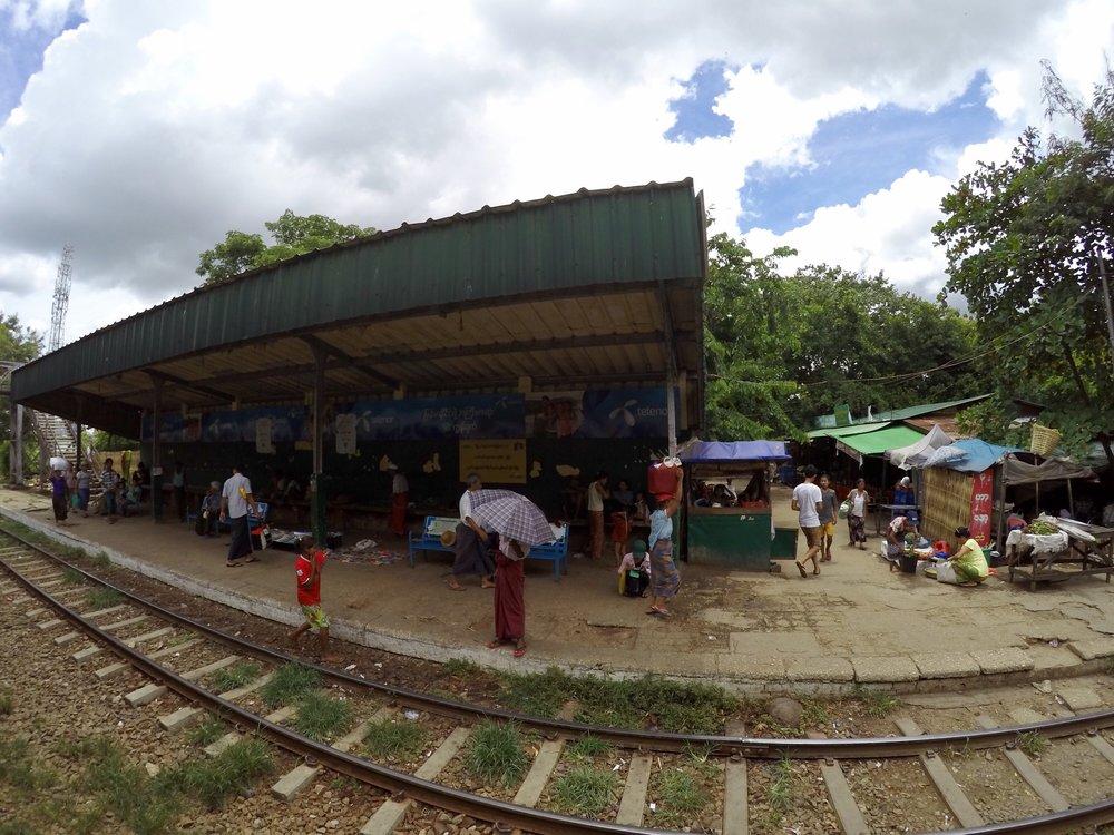 A platform stop.