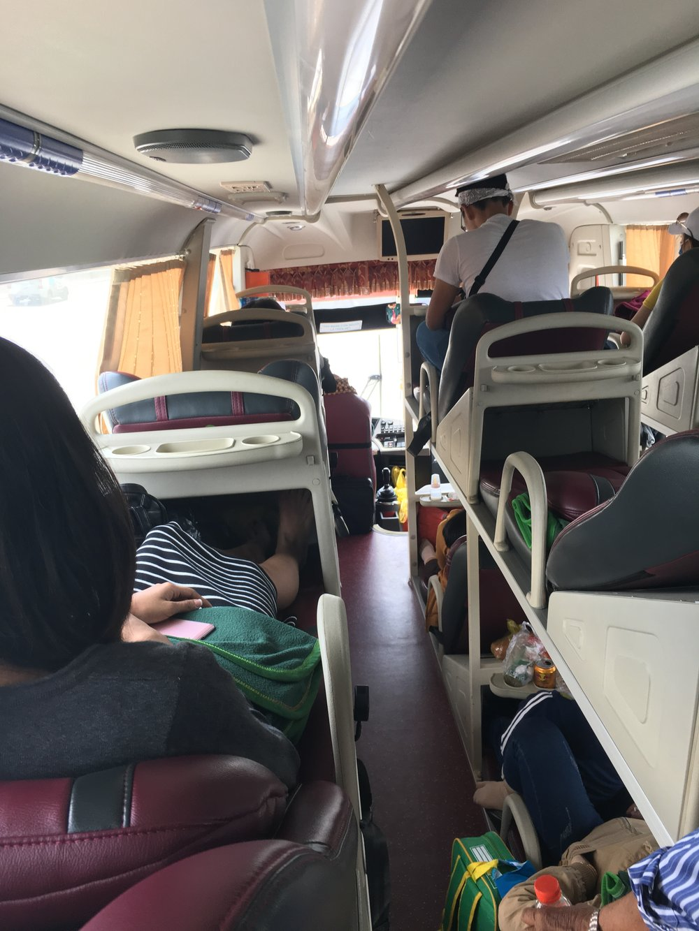 "A ""sleeper"" bus in Vietnam."