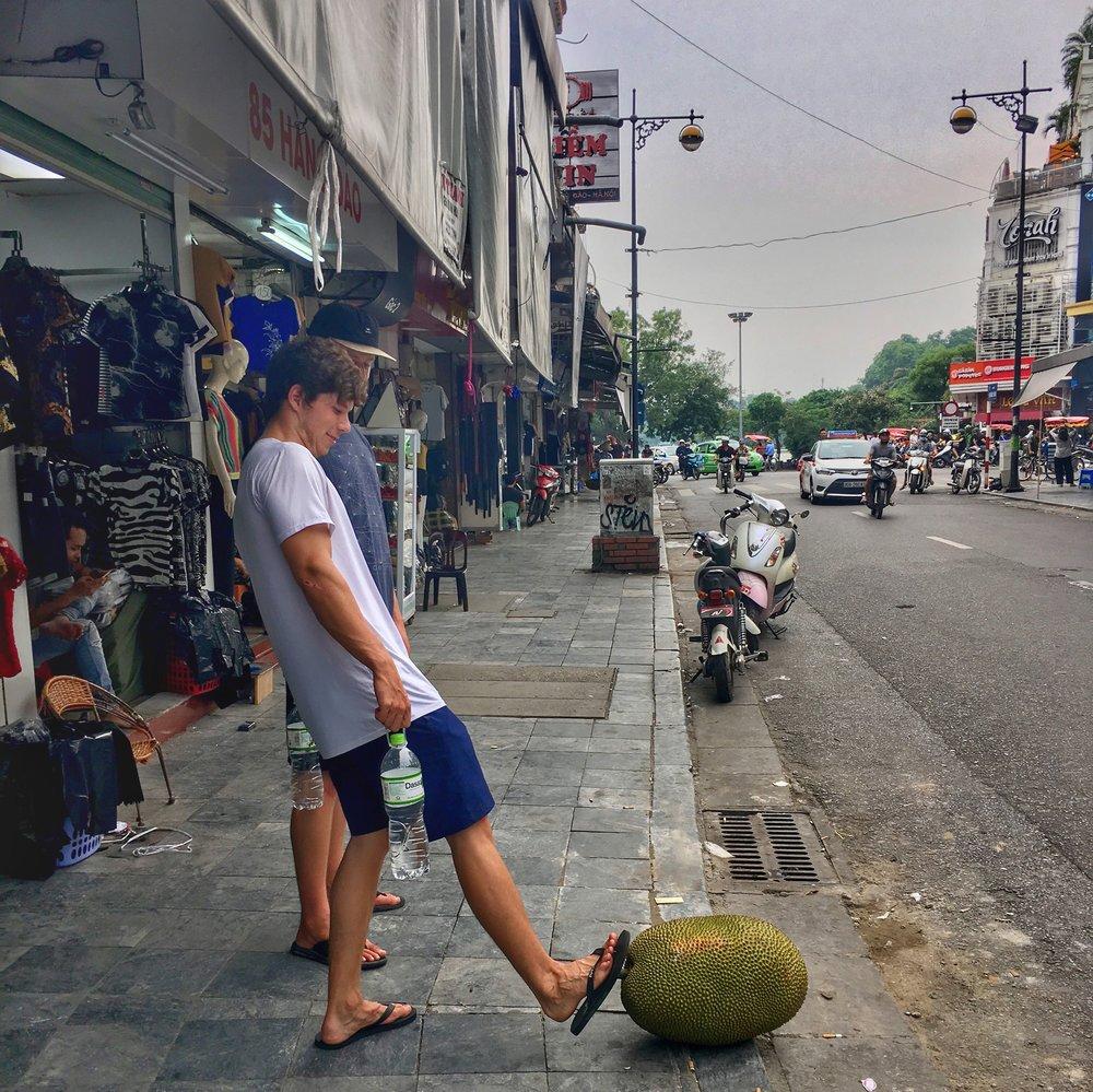 Bonus: a random, huge jackfruit just chillin on the side of the road.