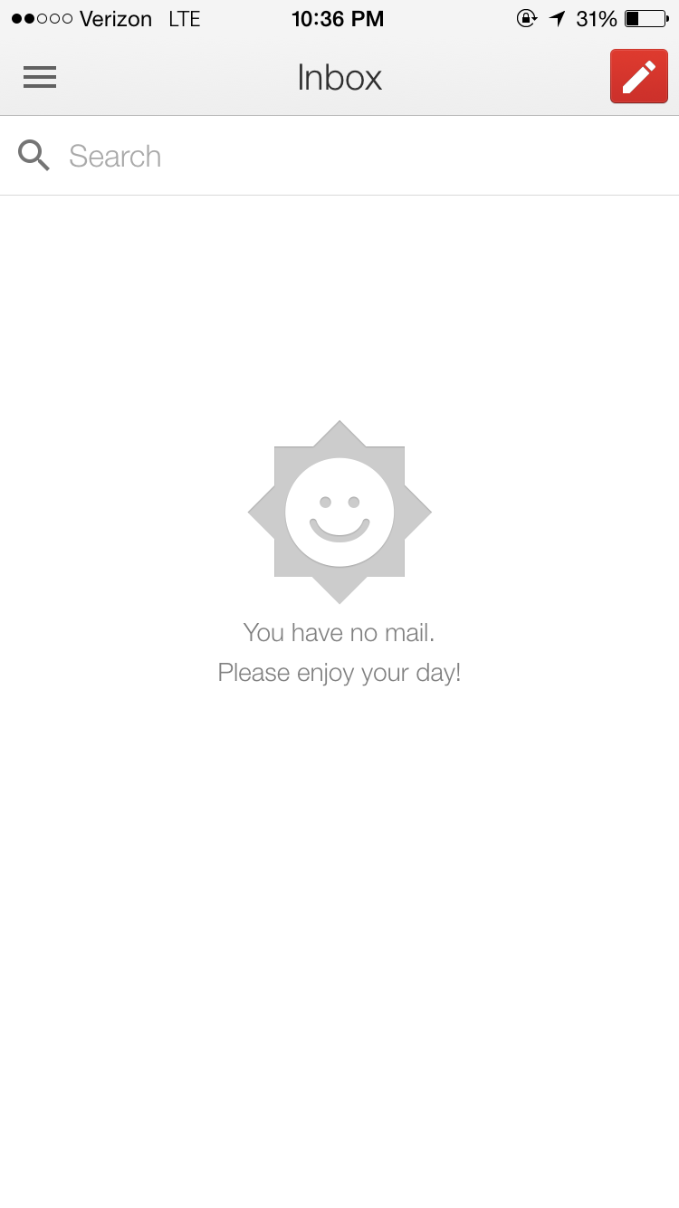 Inbox Zero UI on Google (Slightly better)