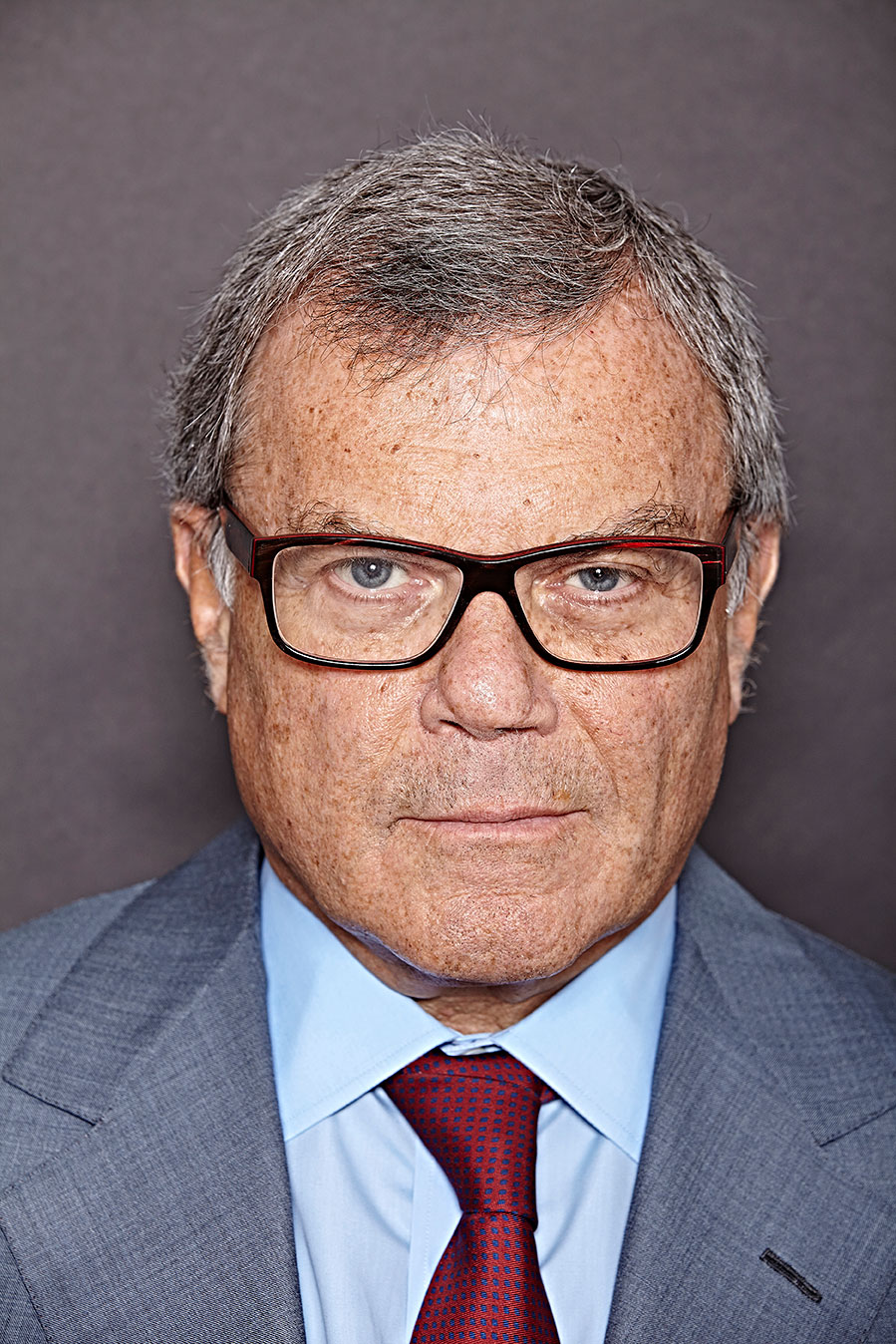 Sir Martin Sorrell. This version isn't 3D printed.