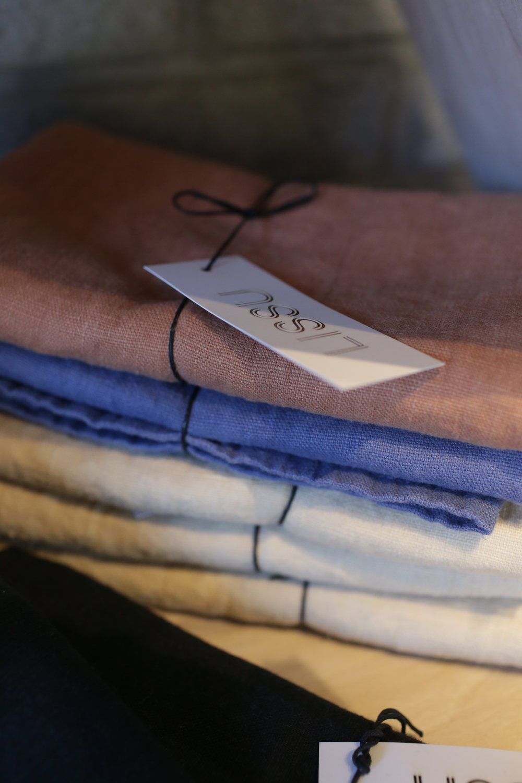 LISSU handmade linen tea towels- Picot Collective Victoria BC