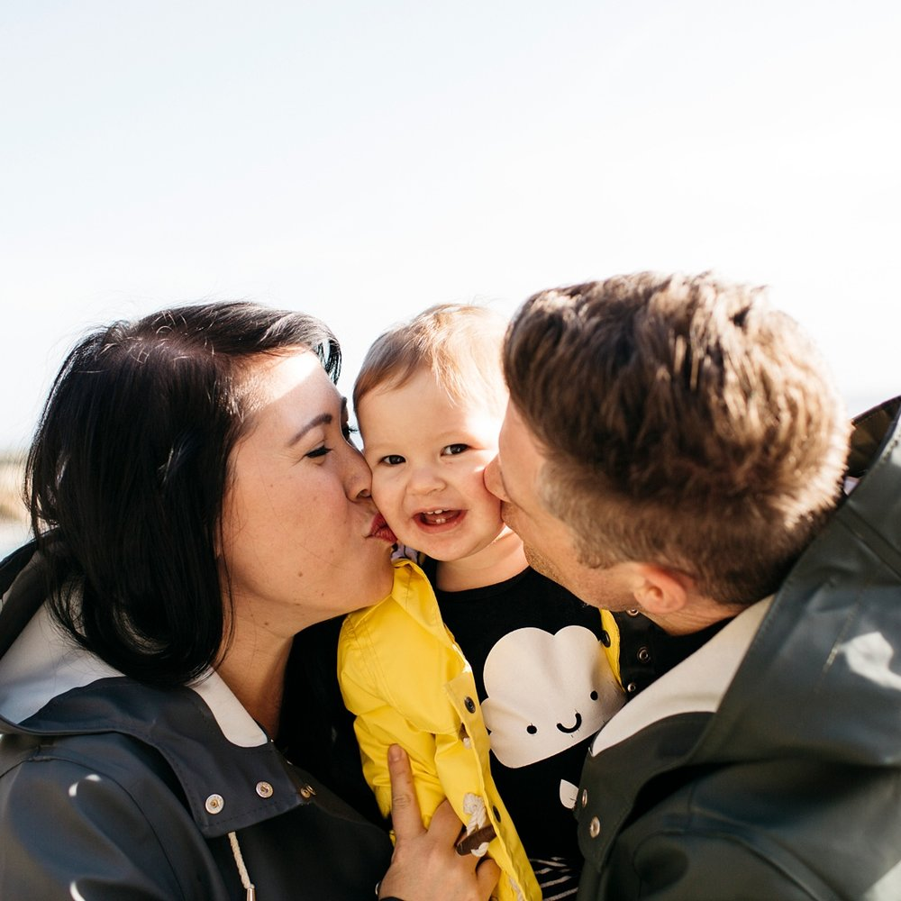 """Rachael took the most beautiful photos of our family and we are so grateful for them. She was great with our 3 young kids and really captured the silliness and the love. We'll be making this a yearly (at least) tradition. Thanks Rachael!""  -Miranda owner of Whistle and Flute (Family Outdoor Photoshoot)"