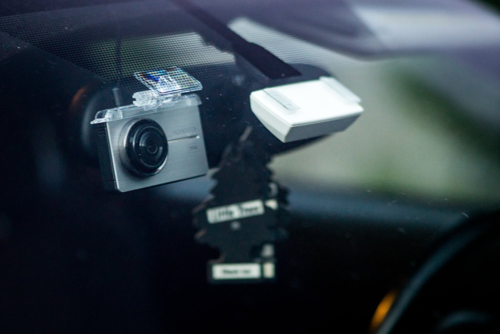 - Our dash cams are small, only slightly larger than the Massachusetts EZ Pass, to take up minimal space on your windscreen while still allowing the user a full touch screen user experience.