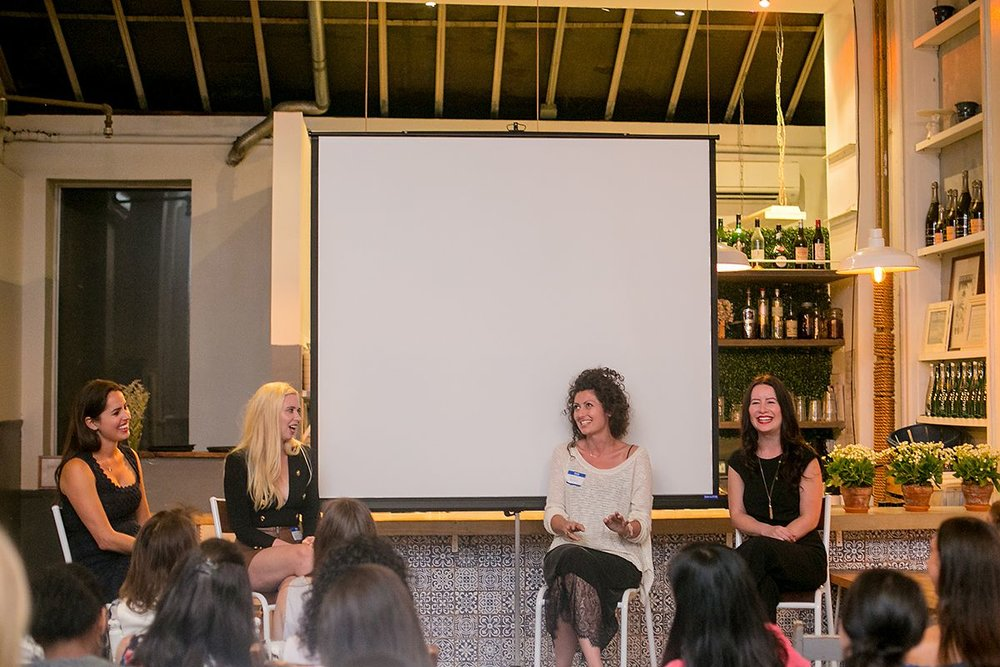 Six Degrees Society - Live Your Dream Life  Female Entrepreneur Panel featuring: Tara Bradford - Publicity Strategist & Reputation Designer Erin Bagwell - Creator of  Dream, Girl  Elisa Marshall - Owner  Maman  Emily Merrell - Founder  Six Degrees Society   Photos by:    Phillip Van Nostrand